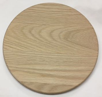 Round Grooved Base 8 Inch Oak