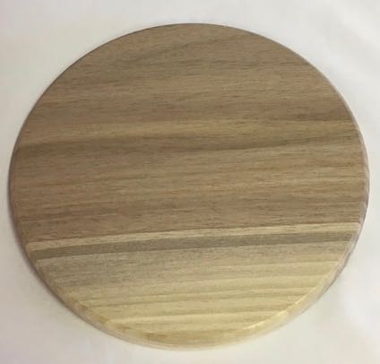 Round Grooved Base 8 Inch Walnut