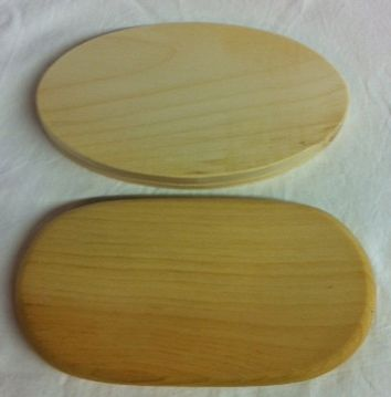 Elliptical/Oval Grooved Pine Base 3 x 5