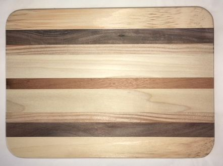 Rectangle Grooved Multi Wood Base 8 1/2 x 11 1/2