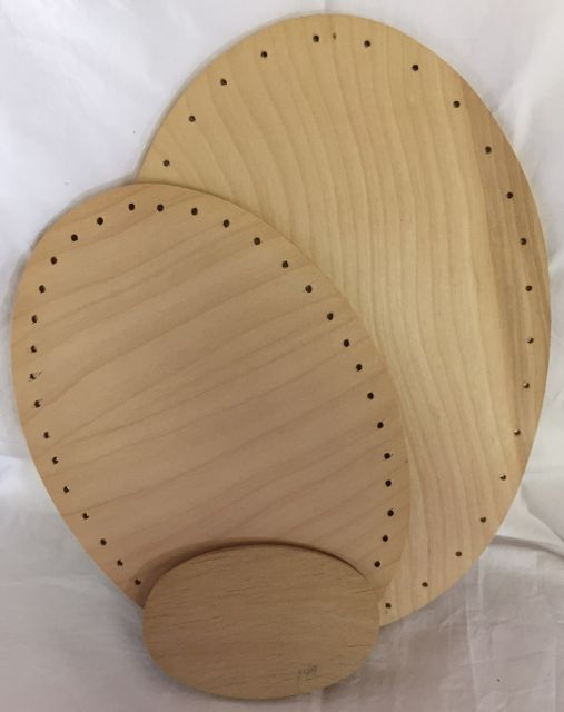 8 Inch x 12 Inch Oval Drilled Base