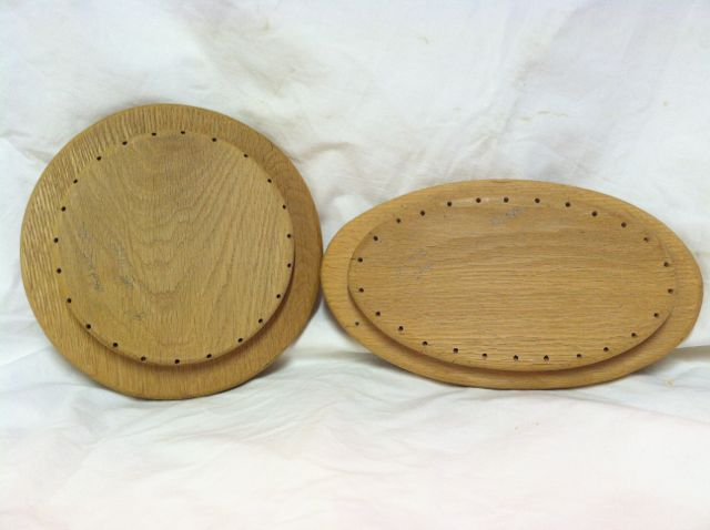 Oak Basket Base with angled holes