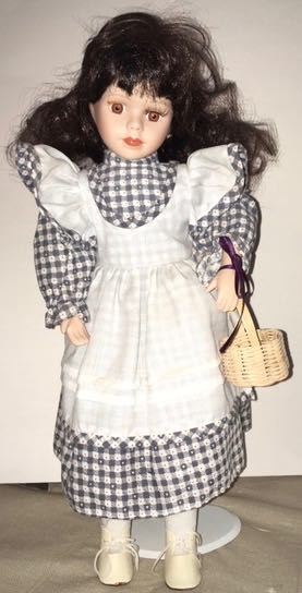 Doll 5 Blue Checker Dress