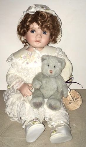 Doll 7 Sitting with Bear