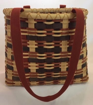 Plaid Tote with Shaker Tape Handles